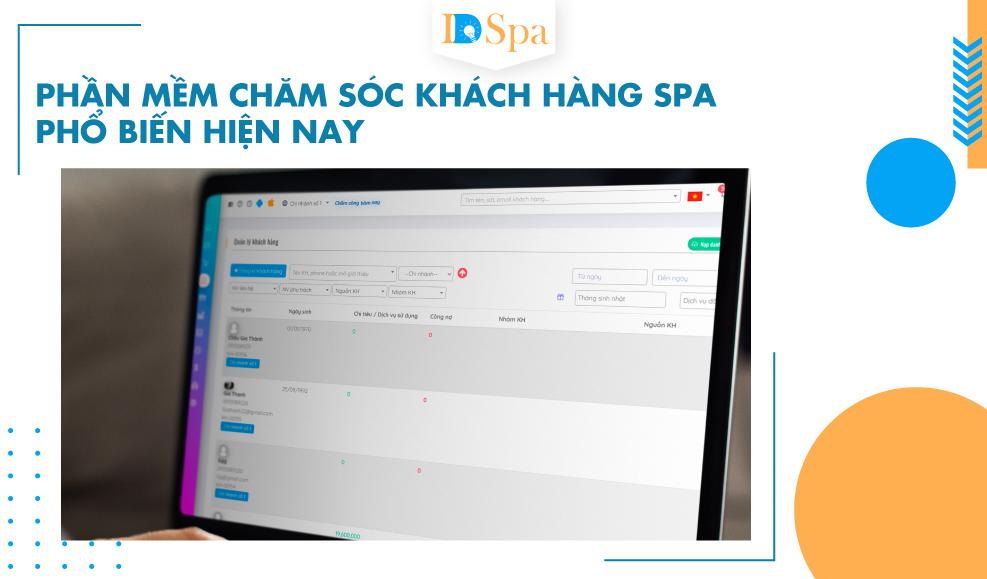 Phần mềm chăm sóc khách hàng spa phổ biến hiện nay