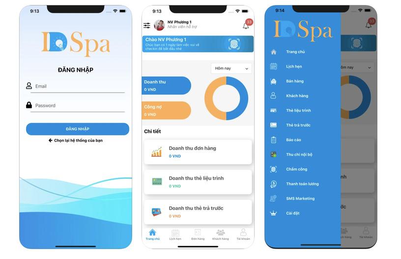 App cho Spa
